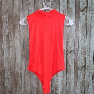 Neon Pink/Coral Body Suit